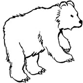 Bear Coloring Page 7