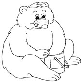 Bear Coloring Page 15