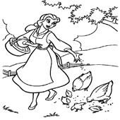 Belle Coloring Pages 1