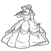 Belle Coloring Pages 5