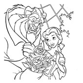 Belle Coloring Pages 8