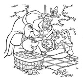Belle Coloring Pages 9