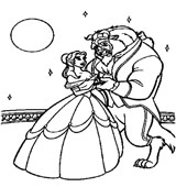 Belle Coloring Pages 11