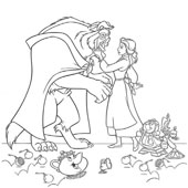 Belle Coloring Pages 12