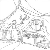 Belle Coloring Pages 13