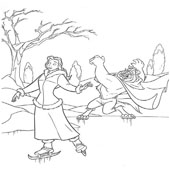 Belle Coloring Pages 14