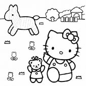 Hello Kitty Coloring Pages 4