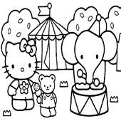 Hello Kitty Coloring Pages 6