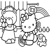 Hello Kitty Coloring Pages 7