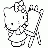 Hello Kitty Coloring Pages 8