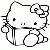 Hello Kitty Coloring Pages 10