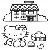 Hello Kitty Coloring Pages 11
