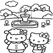 Hello Kitty Coloring Pages 14