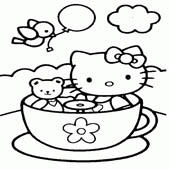 Hello Kitty Coloring Pages 15